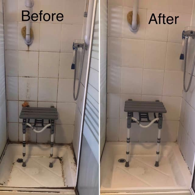 Shower cleaned by Country Cleaners in Honiton